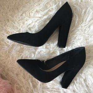 Simple Black Block Heel